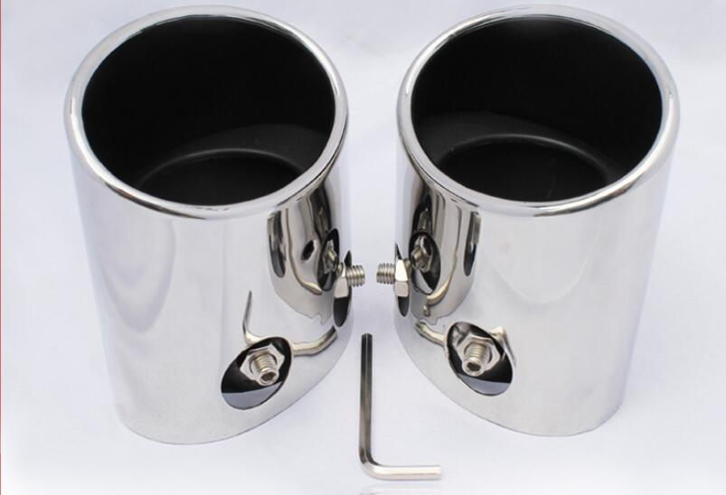 Stainless Steel Pipe Exhaust Muffler Tip 2pcs For Subaru Forester 2009-2012 stylish stainless steel car exhaust pipe muffler tip for benz 320 350 500