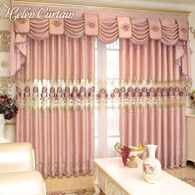 Online shop helen curtain luxury european embroidered pink flower helen curtain luxury european embroidered pink flower curtains for living room embroidered voile curtains curtain fabric 006 mightylinksfo