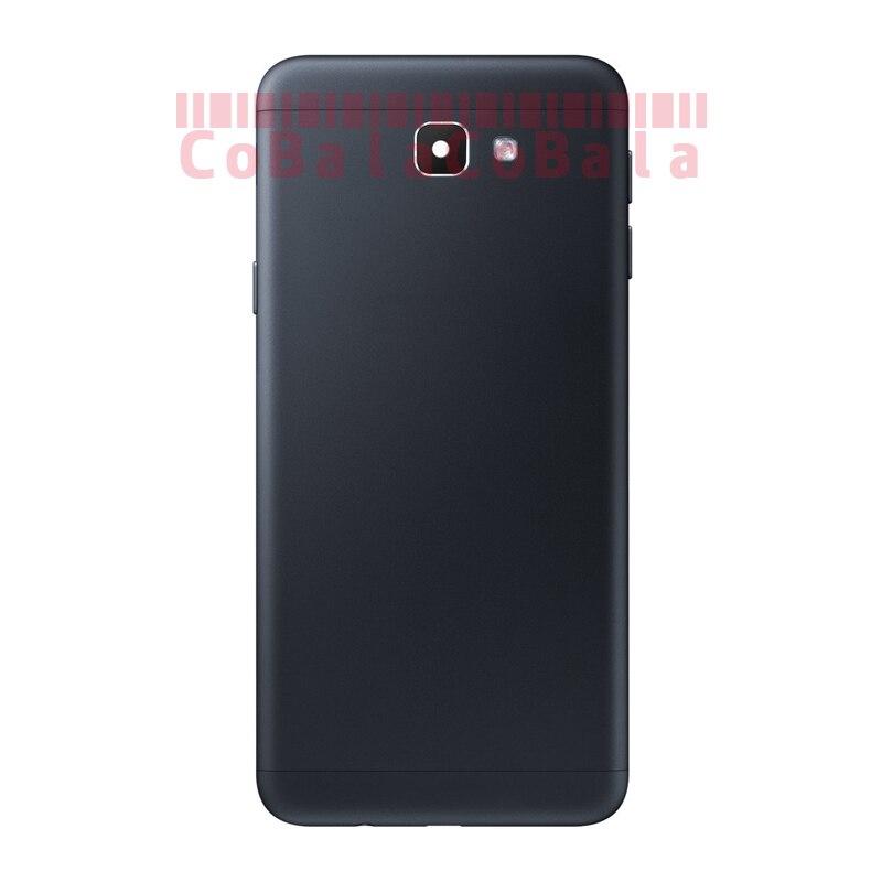 50Pcs Original For Samsung Galaxy J5 J7 Prime ON5 ON7 G570 G610 Back Battery Cover Glass Housing+Side Key+Camera Frame