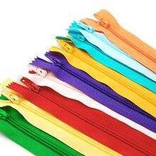 100 шт молнии смешанных цветов, нейлоновый витые застежки-молнии портновский пошив Инструменты Аксессуары для одежды 9 фитинг дюймовый завод цена