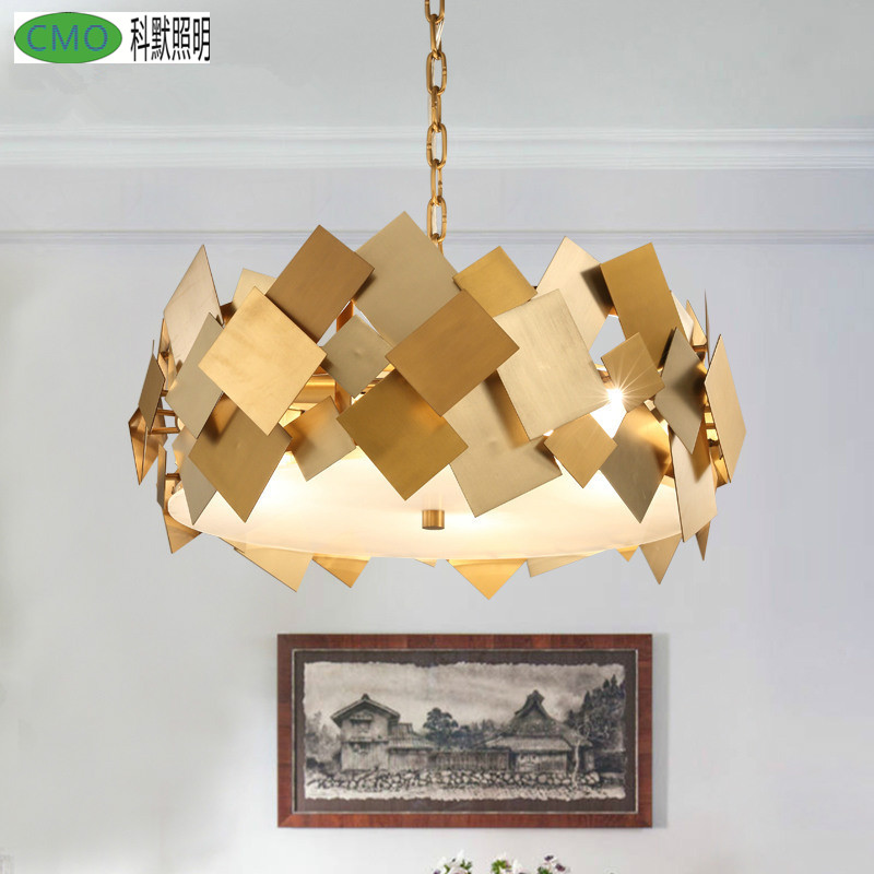 Post-Modern Stainless Steel Acrylic Chandeliers Creative Flexible Gold Led E14 drop <font><b>Light</b></font> For Living Room Dining and Bedroom