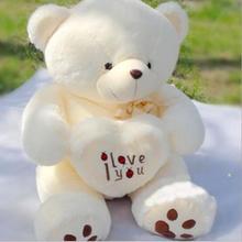 50 см чучела плюшевые игрушки , я тебя люблю в форме сердца большой плюшевый мишка мягкая подарок на день святого валентина рождения девочки подарок