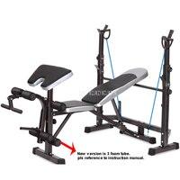 8 в 1 Функция Фитнес Вес Bench Вес подъемная кровать тренажерный зал штанга Dumbell тренировки Abs руку оборудование для тренировки мышц ftjzc