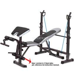 8 в 1 Функция Фитнес-скамья для тяжелой атлетики кровать тренажерный зал штанга Dumbell тренировки Abs рука оборудование для тренировки мышц FTJZC