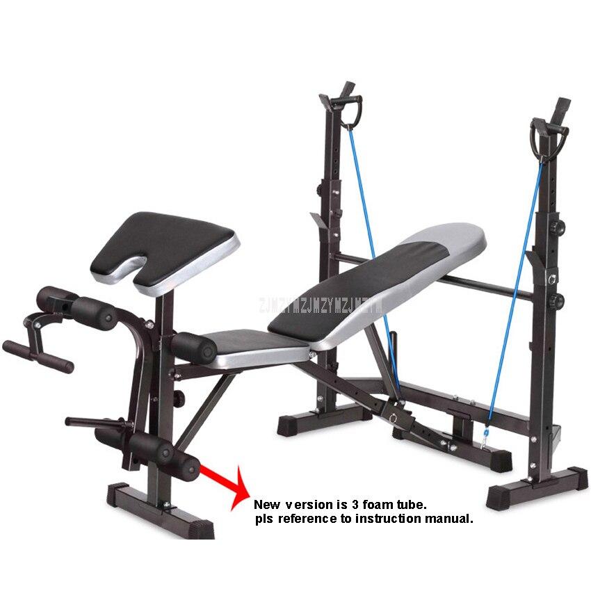 8 En 1 función Fitness banco de pesas cama de levantamiento de pesas gimnasio mancuerna Barra de entrenamiento Abs brazo equipo para ejercicio muscular FTJZC