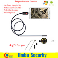 Newest Mini Endoscope 5M 2IN1 And PC Lens 7mm Borescope Inspection Wire Android Camera IP67 Waterproof