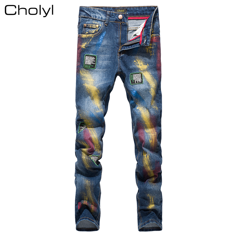 2016 New fashion Men's printed jeans men slim straight Black stretch jeans high quality designer pants nightclubs singers mother of god the inexhaustible cup 3d model for cnc stl format religion 3d relief model stl router 3 axis engraver artcam