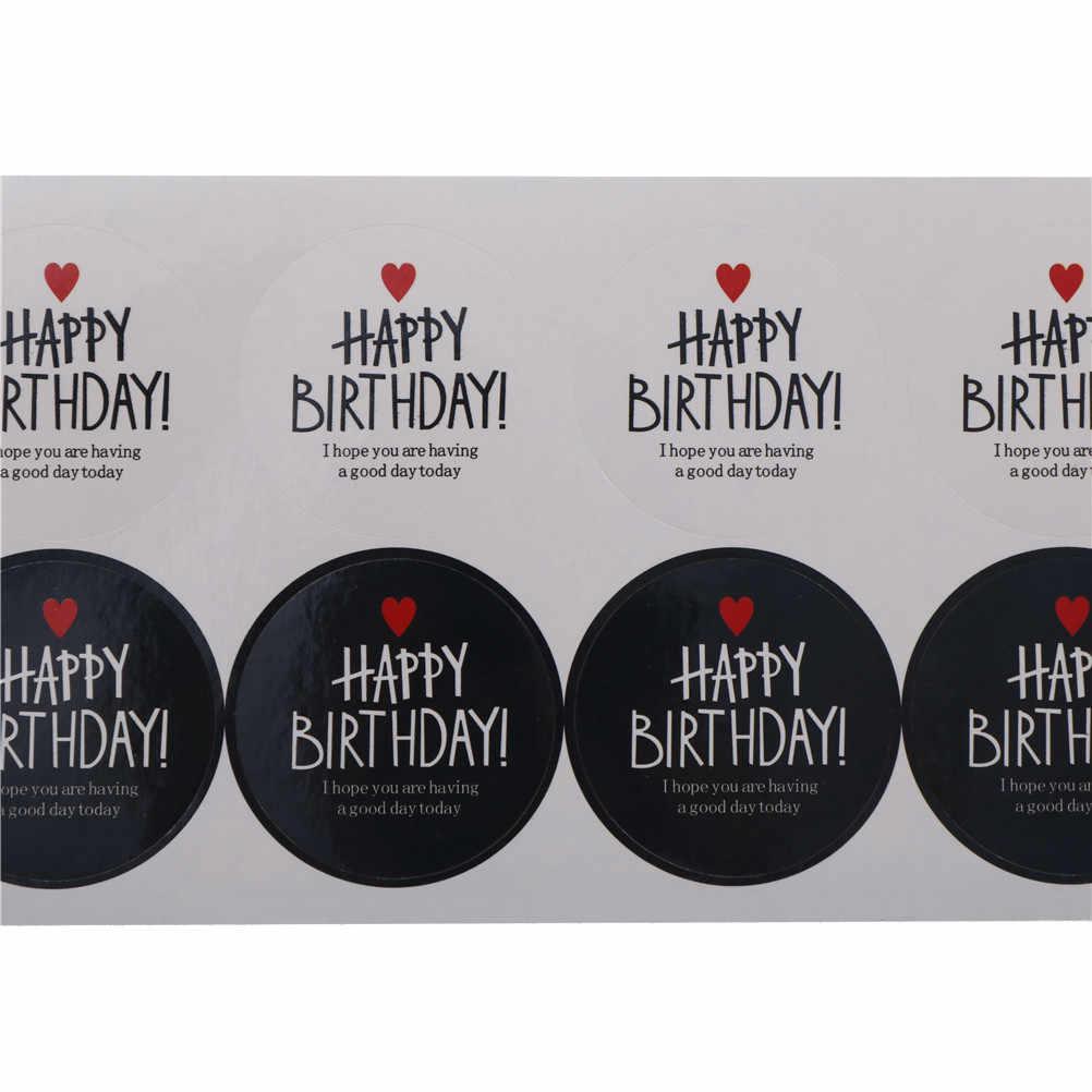 80 шт/10 листов с днем рождения с красным сердцем серии стикер для канцелярских товаров черно-белая самоклеющаяся бумага