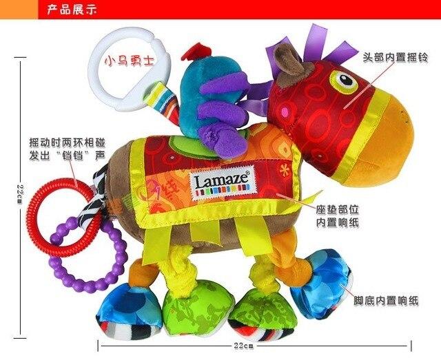 Горячая продажа супер мило-классический королевский рыцарь лошадь погремушка кровать детская коляска висит успокаивающие плюшевые игрушки