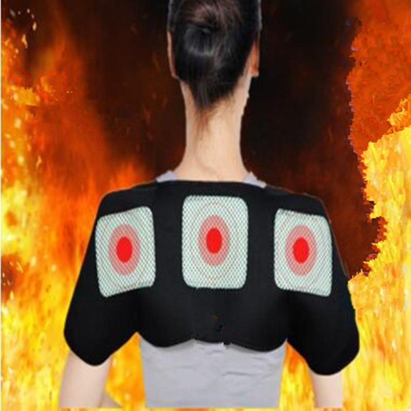 Self-heating Tourmaline Shoulder Magnetic Therapy Support Brace Belt For The Back Posture Corrector Massager unisex adjustable back posture corrector brace back shoulder support belt posture correction belt for men women