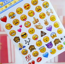 8pieces lots expression containing 280 Emoji stickers affixed to face Expression of stickers Diary smiling face