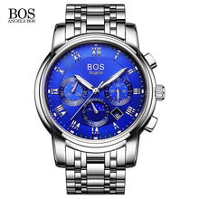 Angela BOS Automatic Watch Men Switzerland Watches Luxury Brand Watch Steel Strap Mechanical Watch Waterproof Relogio Masculino