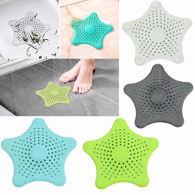 DAY-DAY-FUN-4-PCS-Bathroom-Floor-Drain-Colorful-Silicone-Sink-Filter-Sewer-Drain-Shower-Drain