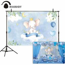 Allenjoy blue elephant photo background baby shower birthday photography backdrop photocall shoot photo studio prop fabric allenjoy photography backdrop unicorn birthday rainbow stars clouds background photo shoot photocall photobooth fabric decor