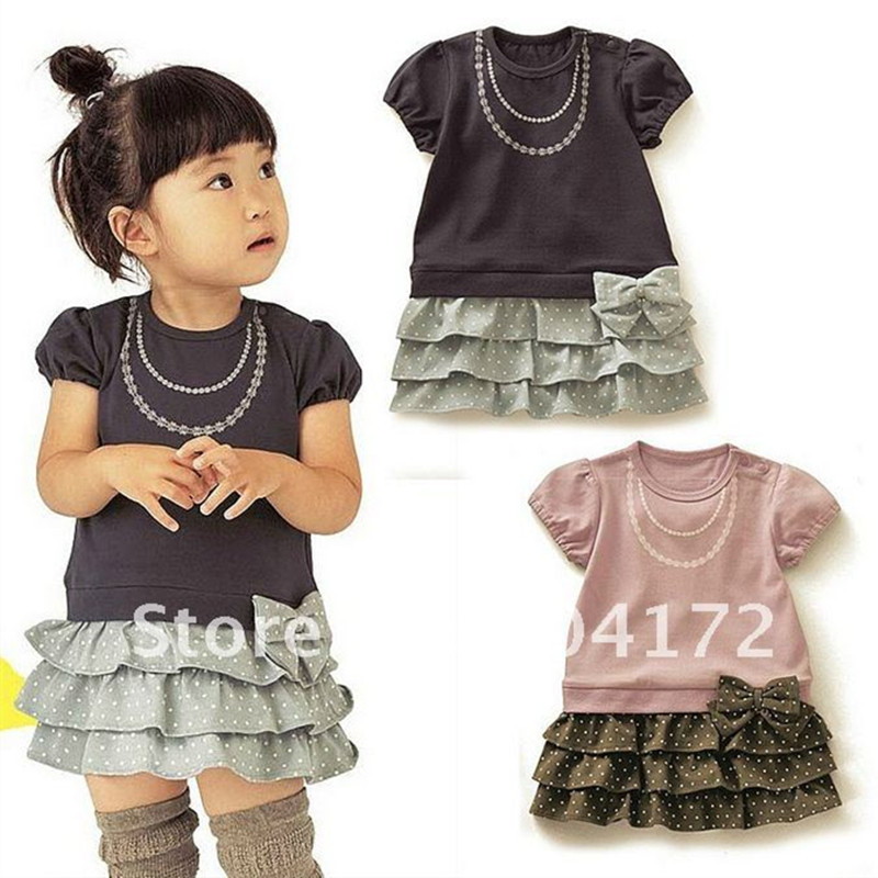 ✅Venta caliente bebé vestido de algodón puro caliente linda chica ...