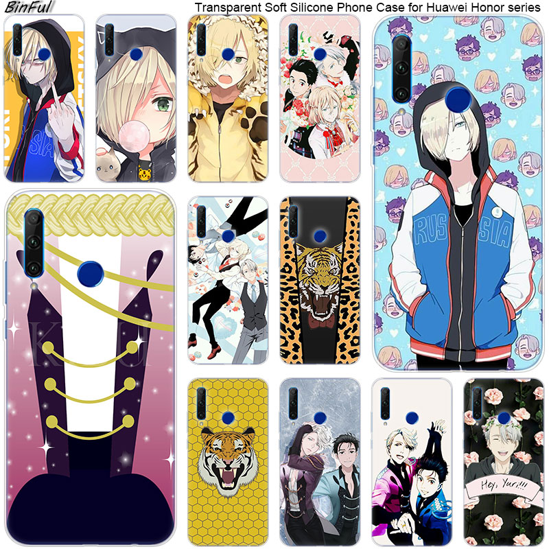 Hot <font><b>Anime</b></font> YURI on ICE <font><b>Soft</b></font> Silicone Phone <font><b>Case</b></font> for Huawei <font><b>Honor</b></font> 20 20i 10 9 <font><b>8</b></font> Lite 8X 8C 8A 8S 7S 7A Pro View 20 Fashion Cover image