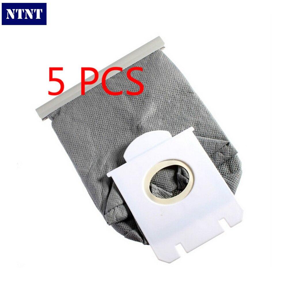 все цены на NTNT 5 Pcs Pack Universal Vacuum Cleaner Cloth Dust Bag Replacement For Philips FC82** FC83** FC84** FC86** FC90** Series онлайн