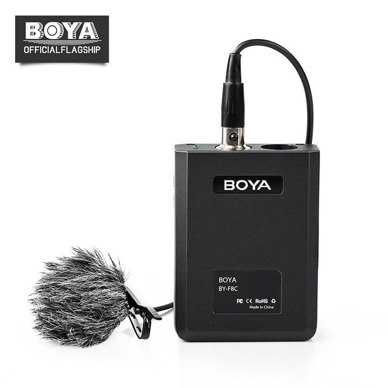 BOYA BY-F8 Lavalier XLR Output Condenser Microphone for Vocal Acoustic Music Instrument Video Recording Mic for iPhone 8 7 Canon best quality yarmee multi functional condenser studio recording microphone xlr mic yr01