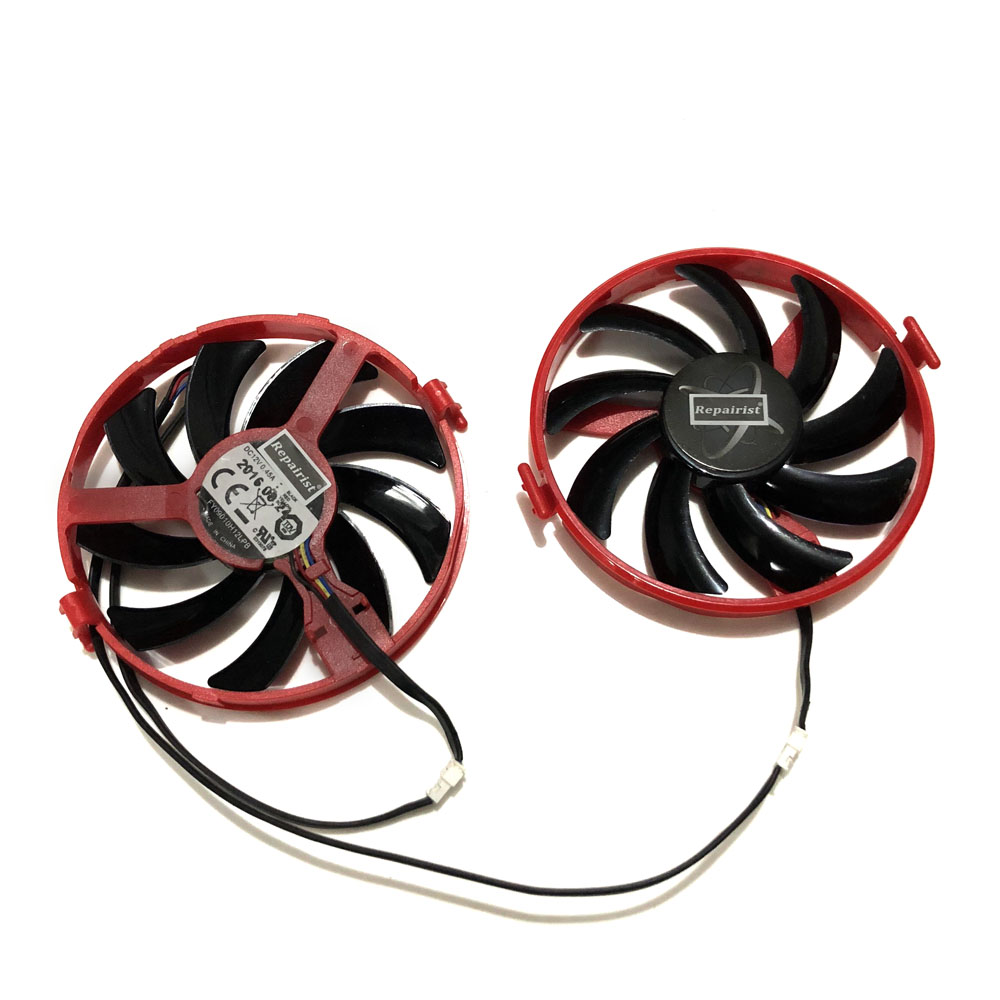 XFX RX 460 GPU VGA Cooler FY09010H12LPB Cooling Fan For XFX R9 380X R7 370 XFX RX460 Grahics Card As Replacement Descript image