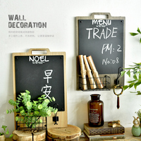 Heavy Duty Wall Deco Board Vintage Style Wall Writing Board Blackboard Wall Decoration Storage Rack Home & Shop Wall Decor Board