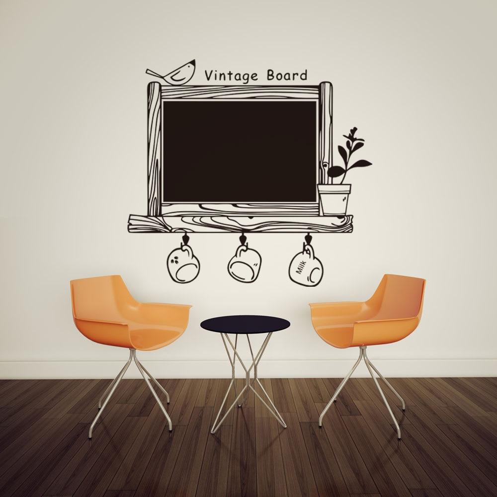 DIY Blackboard World Wall Stickers Kids Rooms Bedroom Poster Children Chalkboard Adesivo De Parede Vinyl Decoration Home Decor