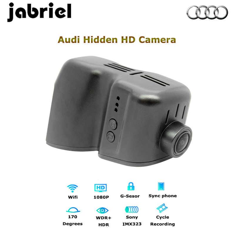Jabriel Wifi driving recorder dash cam for old audi a4 b5 b6 b7 HD 1080P  car dvr dash camera dual lens for old audi q3 q7 tt