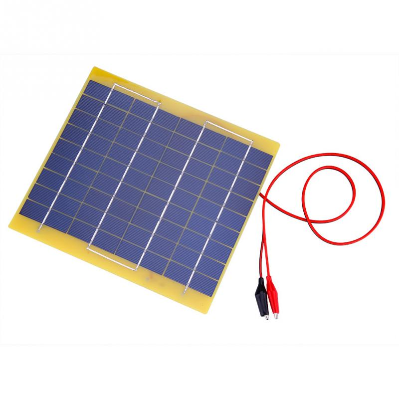 5W Portable Solar Panel DIY Power Charger Solar Panel 18V Mini Solar Panel for for Car Boat Automobile 12V Battery zonnepaneel