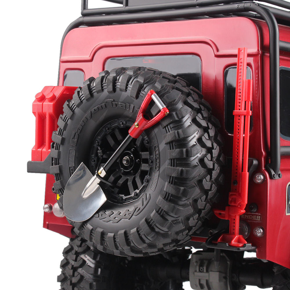 RC Rock Crawler 1:10 Metal Scale Shovel for TAMIYA CC01 Axial SCX10 D90 D110 RC Climbing Truck Car Decorative Tools 2pcs steel crawler drive shaft cvd 80 100mm for 1 10 scale models rc car rc4wd tamiya d90 d110