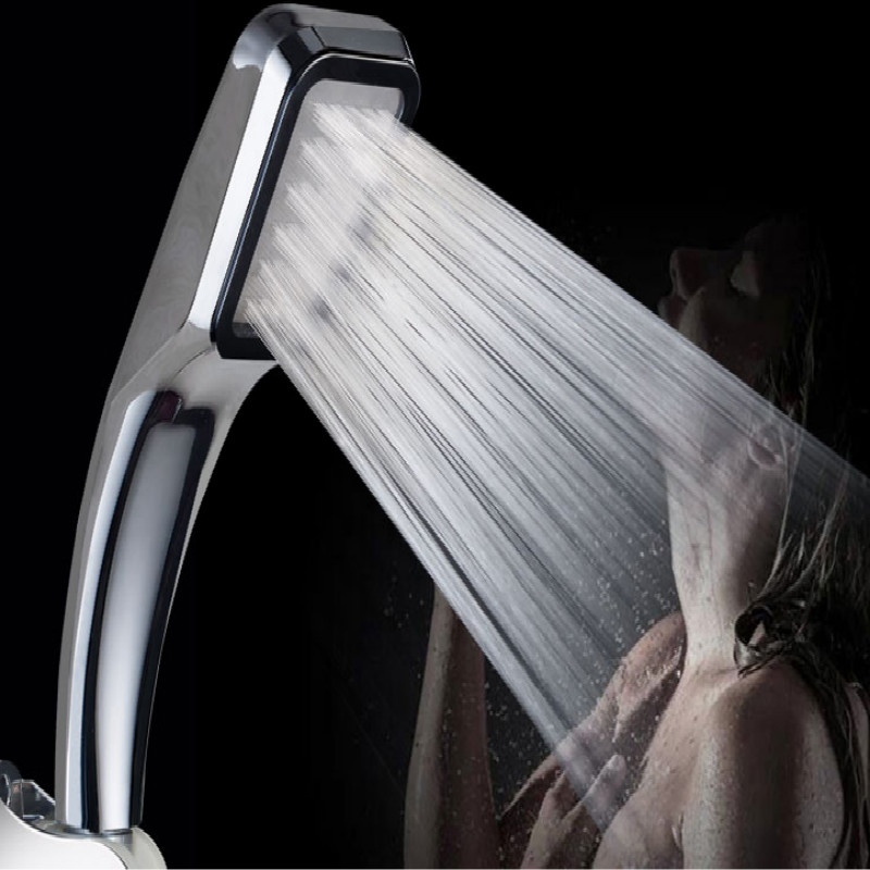 wholesale home hotel 300 holes hand shower Head booster high pressure shower head showerhead 5pcs lot free shipping in Shower Heads from Home Improvement
