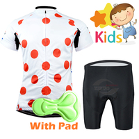 Camisa de Ciclismo de Verão 2018 das Crianças Definir Meninos Meninas Terno Bicicleta de Estrada Desgaste Bicicleta Roupas Ciclismo Roupas Sportswear Bicicleta Jersey