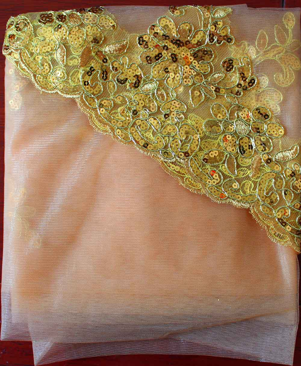 Bling Sequins Lace Gold Wedding Veil One Layer Short Colorful Bridal Veil with Comb Voile Mariage Wedding Accessories
