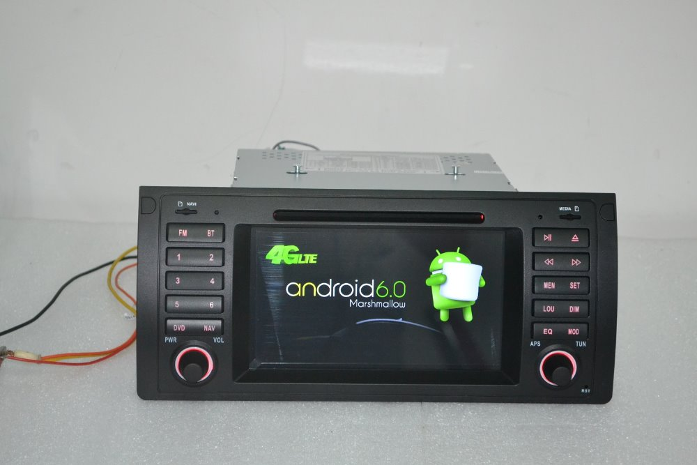 Prix pour 7 pouce Android 6.0 pour bmw E39, X5, M5, E53 voiture dvd, gps, wifi, 4G lte, radio RDS, canbus, 2 GB RAM, quad core, 1024x600, soutien dvr, la russie