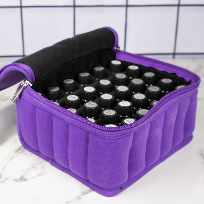 30 Bottles Essential Oils Bag Lattices Cosmetic Bag 15ml Oil Carrying Holder Portable Travel