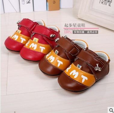 Venta al por menor 2016 hechos a mano zapatos inferiores suaves del bebé antideslizantes de piel de cordero de campana bebé recién nacido zapatos zapatos envío gratis