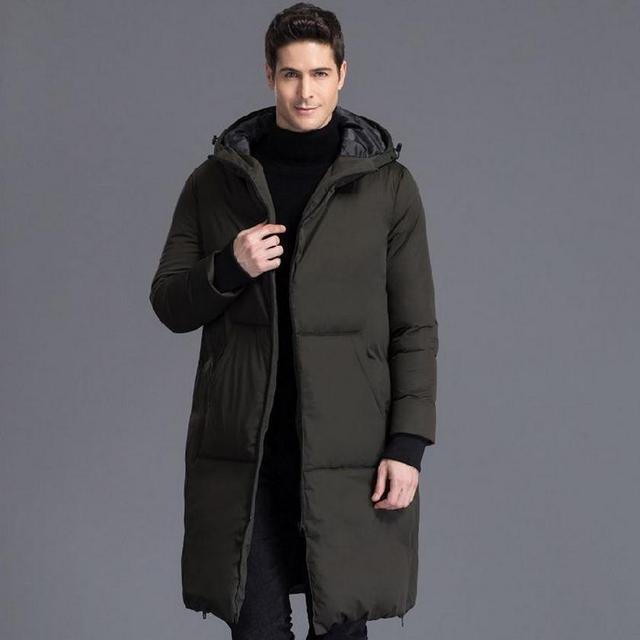 S-4XL tallas grandes 2016 hombres de moda de Invierno 90% Chaqueta de plumón de pato marca gruesa Chaqueta caliente Abrigos Casual chaqueta caliente en frío w1563