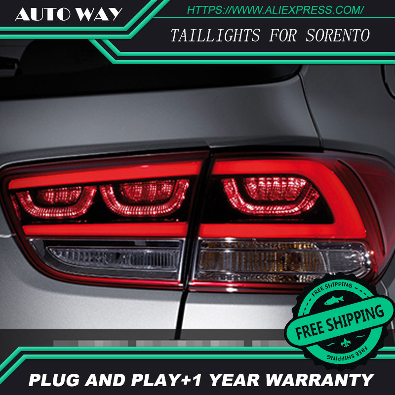 Car Styling tail light for KIA Sorento 2015 2016 taillights LED Tail Lamp rear trunk lamp cover drl+signal+brake+reverse car styling tail lights for kia forte led tail lamp rear trunk lamp cover drl signal brake reverse