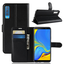 For Samsung Galaxy A7 2018 Case Luxury Flip PU Leather Card Slots Wallet Stand Case For Samsung A7 2018 A750 SM-A750F Phone Bags