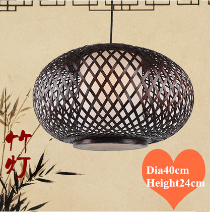 Southeast Asia style hand knitting bamboo art Pendant Lights Modern rural E27 LED lamp for porch&parlor&stairs&corridor LHDD033