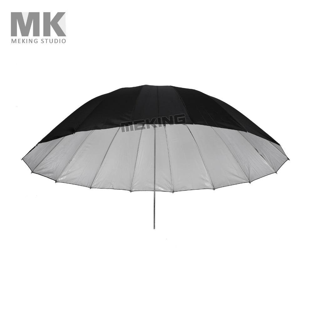 Selens 150 cm/60 Doux Parapluie Noir et Argent Photo Studio Éclairage Caméra Flash Speedlite softbox Pour Photodraphic images