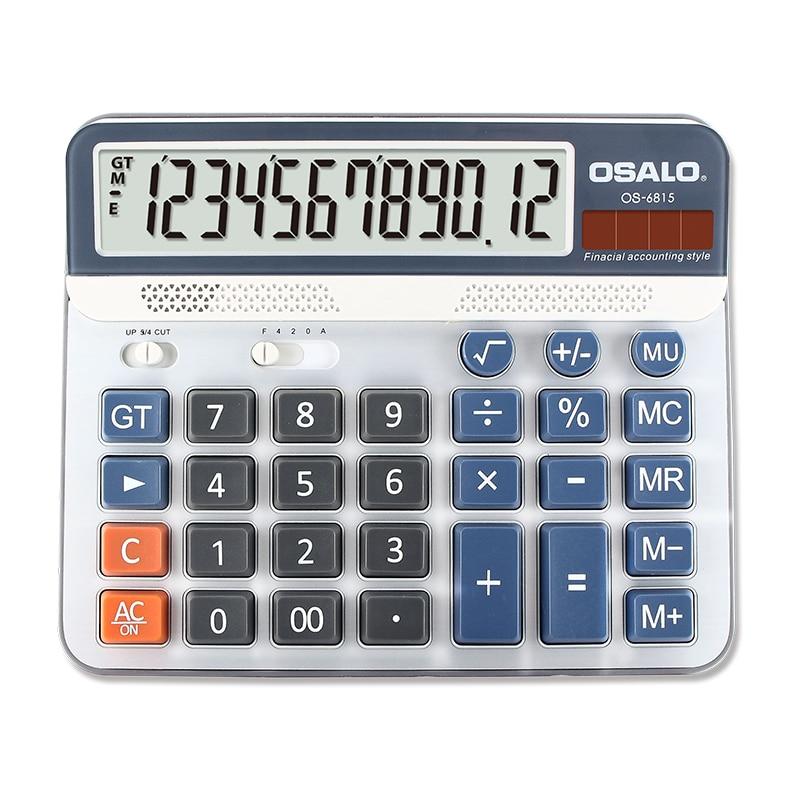 Calculadora de escritorio con funci/ón est/ándar con teclas de ordenador grande y calculador de escritorio con pantalla solar de 12 d/ígitos con pantalla de cristal l/íquido