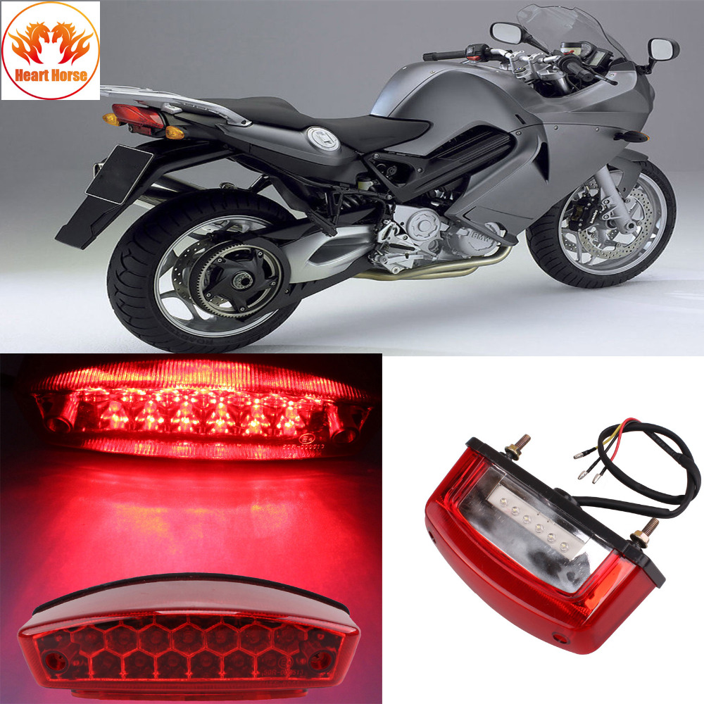 Red 21 LED Universal Motorcycle ATV Dirt Bike Brake Rear Tail Light Turn Signal Blinkers License Plate Lamp 12V Free Shipping sitaile universal 12v 30 led car license plate backup reverse brake rear light lamp bar red white waterproof number plate lamp