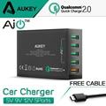 Aukey 54 W Carga Rápida 2.0 5 Puertos USB Desktop QC2.0 Cargador Móvil para la estación de iphone 7 plus huawei htc lg & más dispositivo de teléfono