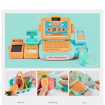 24Psc/set Elettronico Supermercato Registratore Di Cassa Kit Giocattolo Per Bambini Simulato Contatore Di Verifica Ruolo Giochi Di Imitazione Cassiere Shopping Giocattoli