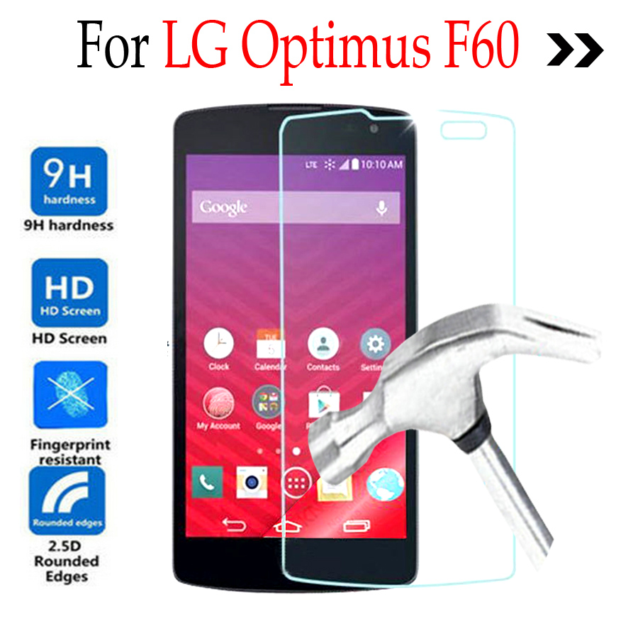 0 26mm Premium Tempered Glass For LG Optimus F60 Tribute LS660 D392 Screen  Protector Front Cover Guard Film Protective Film Case