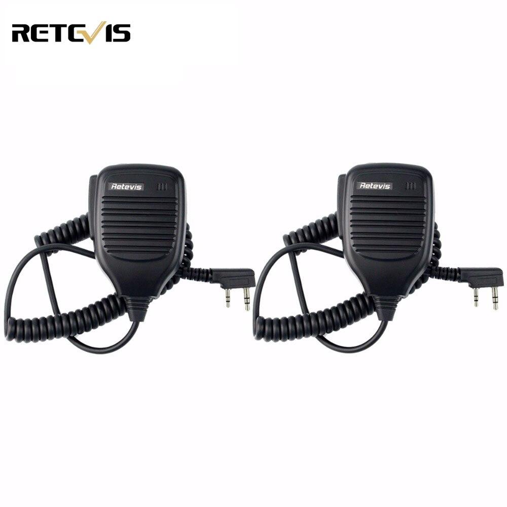 bilder für 2 stücke PTT Lautsprecher Mikrofon Walkie-talkie Mic Zubehör Für Baofeng UV-5R Bao feng BF-888s TYT Retevis Kenwood HYT C9001A