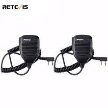 2 шт. PTT Динамик микрофон walkie talkie микрофон Аксессуары для Baofeng UV-5R бао фэн BF-888s TYT Retevis Kenwood HYT C9001A