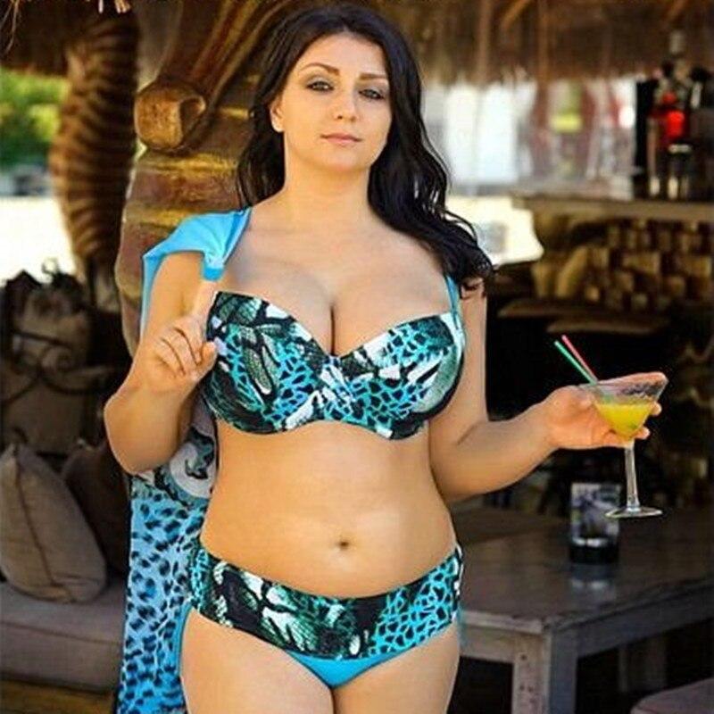 37f57ff121a84 Sexy Leopard Plus Size XXXXL Women Swimwear Bikini Set Beachwear Low Waist  Blue Swimsuit Bathing Suits Maillot De Bain Femme - aliexpress.com - imall. com