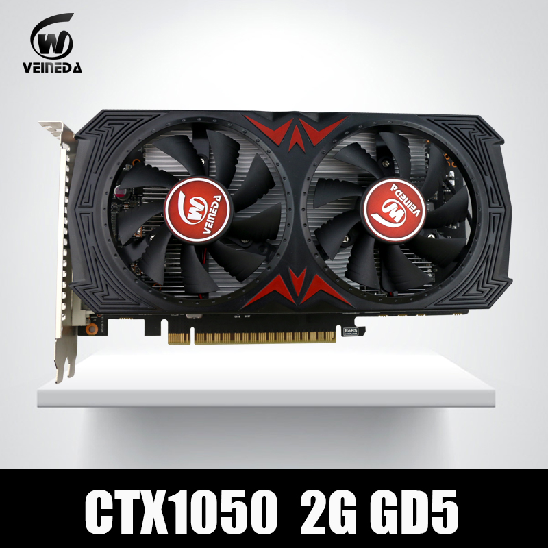 Video Card GTX1050 GPU Graphic Card 2G DDR5 Gaming Mining Card Instantkill GTX950 ,GTX750 ,GTX650 For nvidia Geforce Gtx games original gpu veineda graphic card hd6850 2gb gddr5 256bit game video card hdmi vga dvi for ati radeon instantkill gtx650 gt730