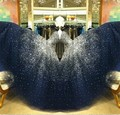 Игристое без бретелек длиной до пола звезды бисера тюль выпускного вечера 2016 vestidos де феста лонго мода девушка ну вечеринку платье