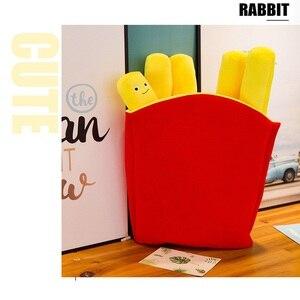 Image 5 - 아주 사랑스러운 미소 현실적인 감자 튀김 베개 귀여운 칩 플러시 장난감 재미있는 인형 생일 선물